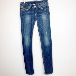 True Religion Jeans - TRUE RELIGION DISTRESSED SKINNY EXTRA LONG SIZE 28